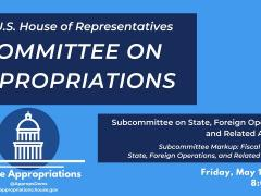Subcommittee Markup of FY2020 State, Foreign Operations, and Related Programs (EventID=109464)