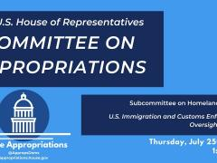 U.S. Immigration and Customs Enforcement Oversight Hearing (EventID=109836)