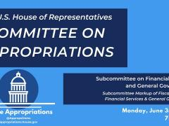 Subcommittee Markup of FY2020 Financial Services & General Government (EventID=109588)